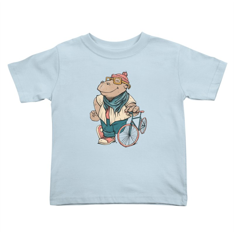 Hipster Hippo Kids Toddler T-Shirt by blancajp's Artist Shop