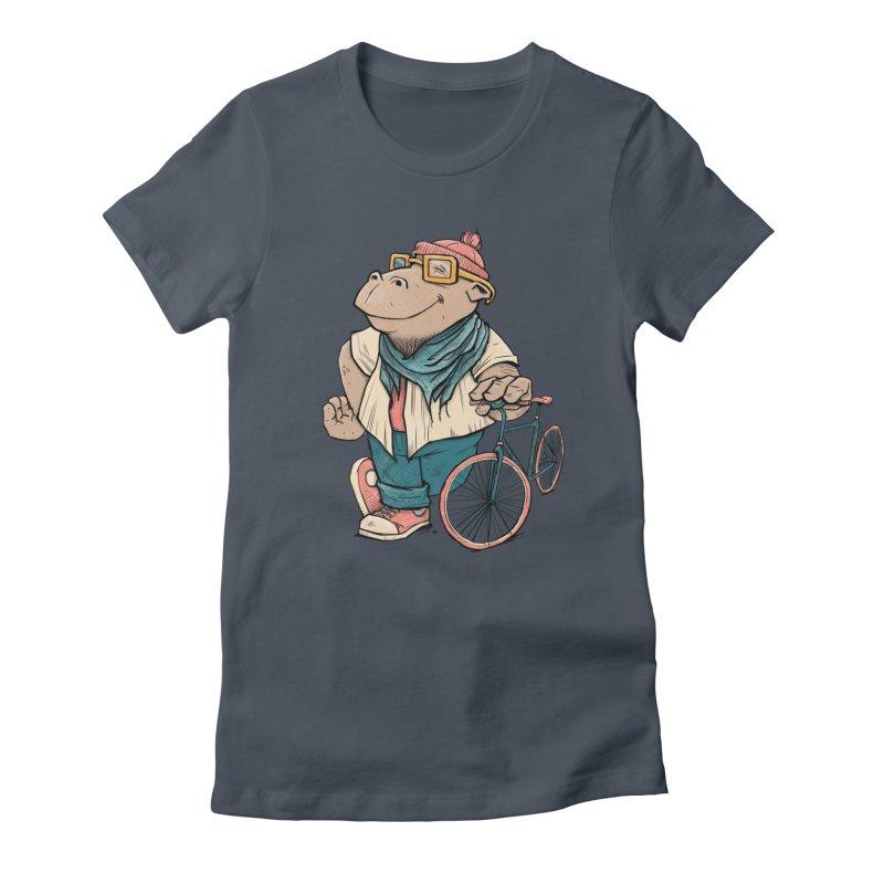 Hipster Hippo Women's T-Shirt by blancajp's Artist Shop