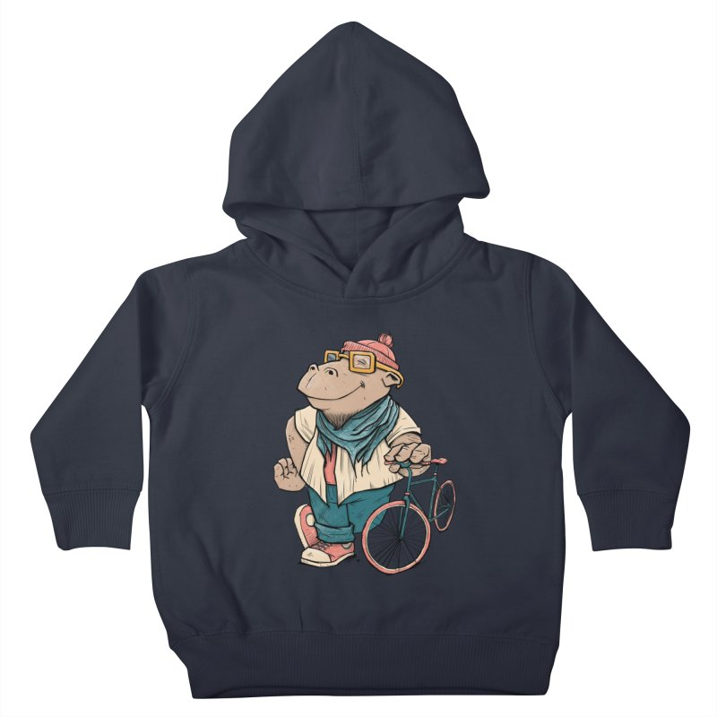 Hipster Hippo Kids Toddler Pullover Hoody by blancajp's Artist Shop