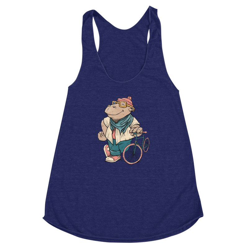 Hipster Hippo Women's  by blancajp's Artist Shop