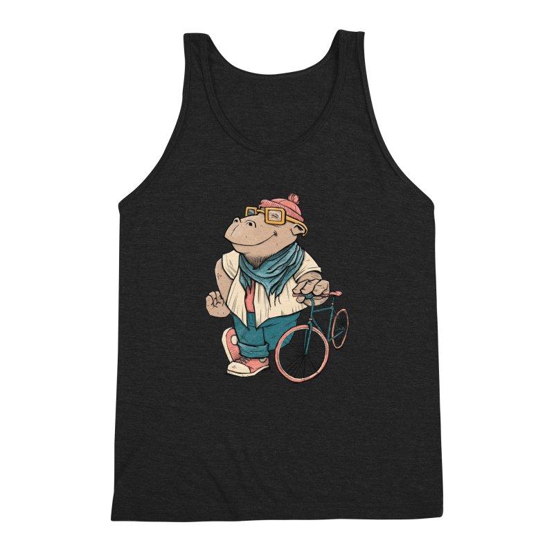 Hipster Hippo Men's Triblend Tank by blancajp's Artist Shop