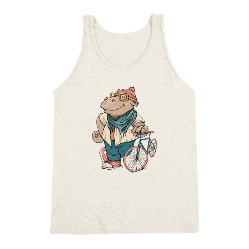 Hipster Hippo Men's Triblend Tank by blancajp's Artist Shop