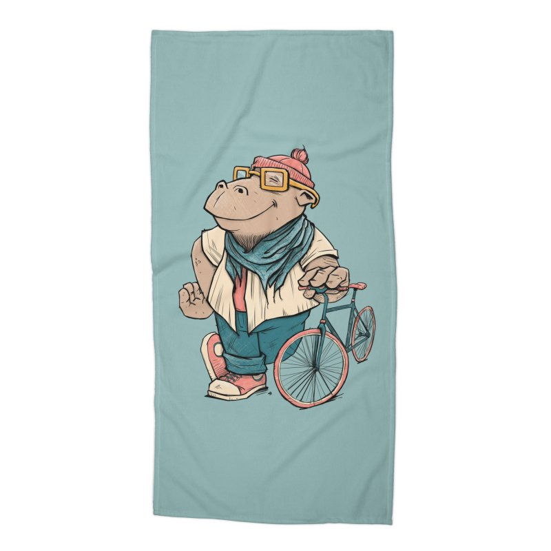 Hipster Hippo Accessories Beach Towel by blancajp's Artist Shop