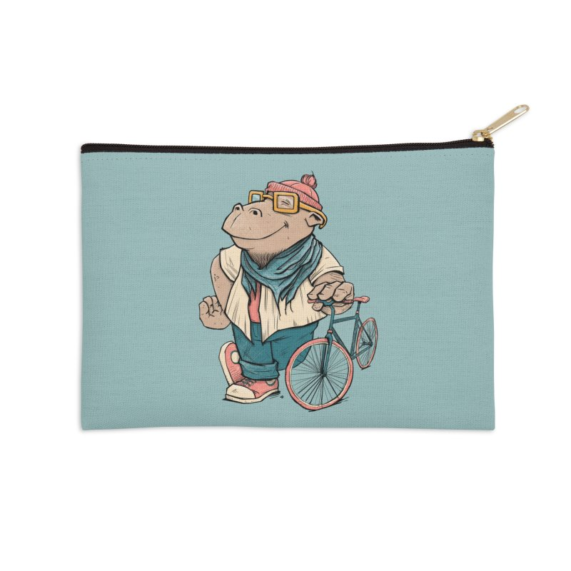 Hipster Hippo Accessories Zip Pouch by blancajp's Artist Shop