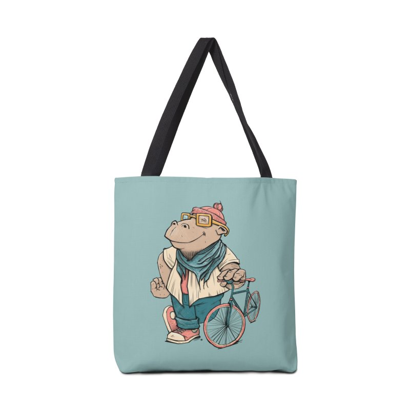 Hipster Hippo Accessories Bag by blancajp's Artist Shop