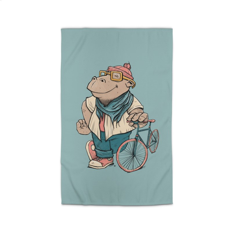 Hipster Hippo Home Rug by blancajp's Artist Shop