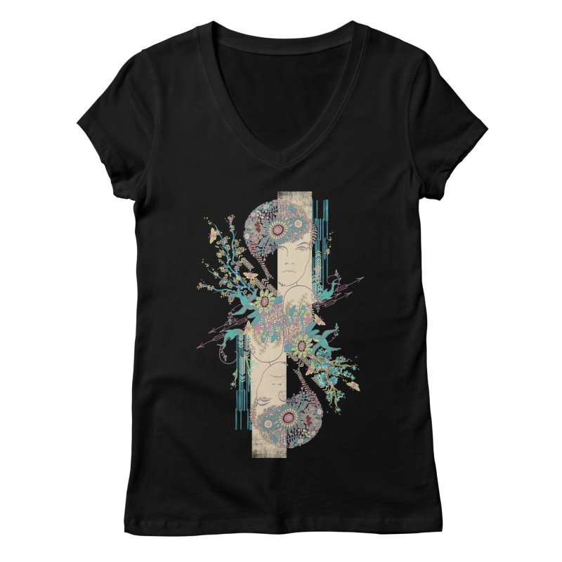 summer Women's Regular V-Neck by blancajp's Artist Shop