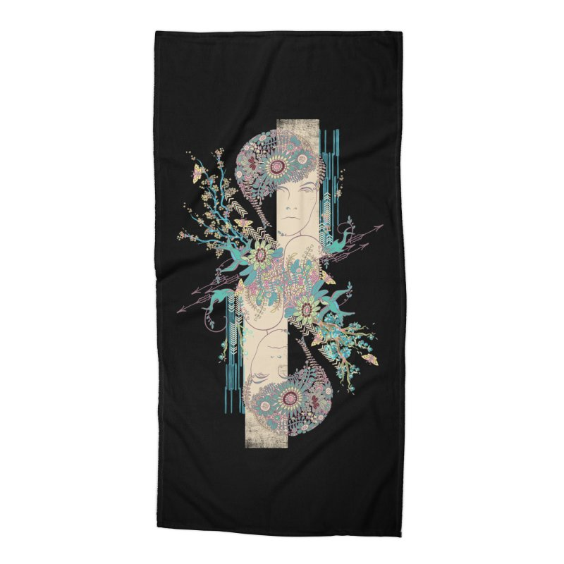summer Accessories Beach Towel by blancajp's Artist Shop