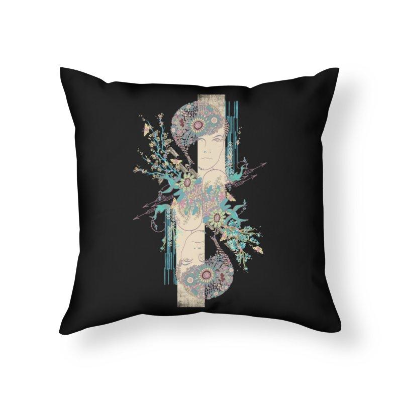 summer Home Throw Pillow by blancajp's Artist Shop