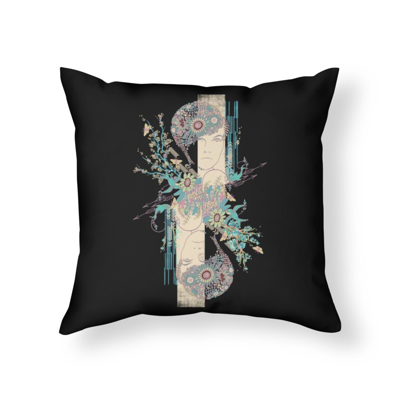 summer Home Throw Pillow by blancajp's Artist Shop
