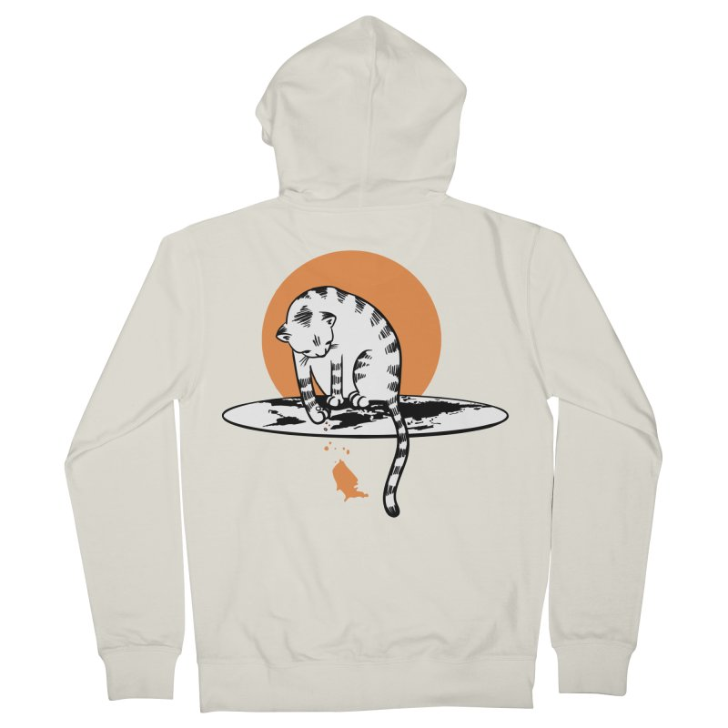 Flat Men's French Terry Zip-Up Hoody by blancajp's Artist Shop