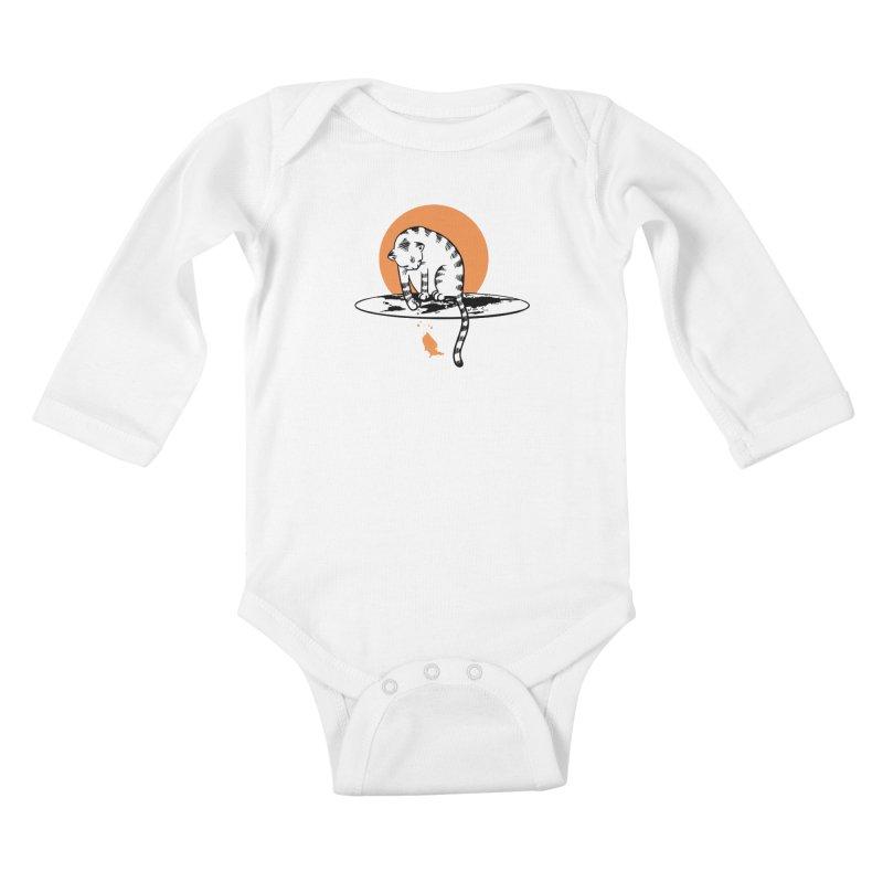 Flat Kids Baby Longsleeve Bodysuit by blancajp's Artist Shop