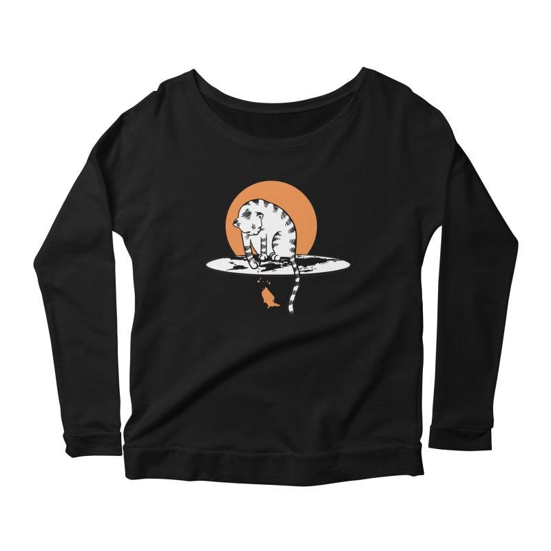 Flat Women's Scoop Neck Longsleeve T-Shirt by blancajp's Artist Shop