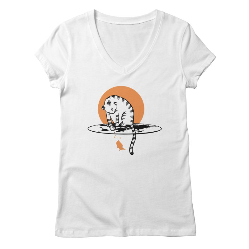 Flat Women's Regular V-Neck by blancajp's Artist Shop
