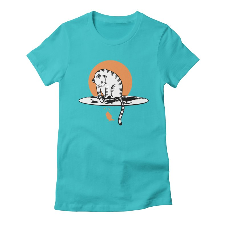 Flat Women's Fitted T-Shirt by blancajp's Artist Shop