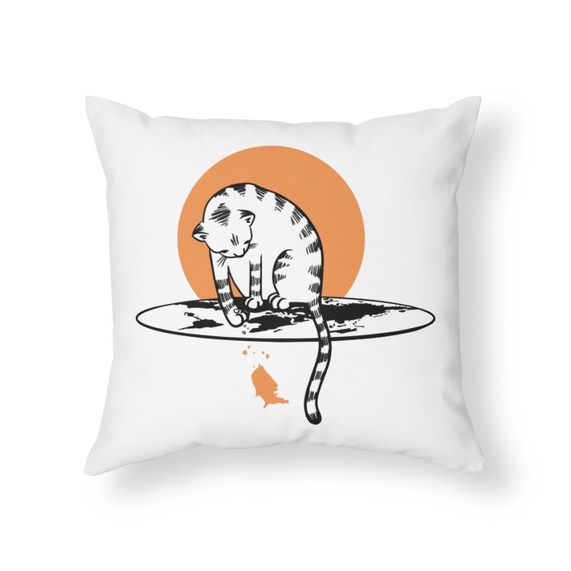 Flat Home Throw Pillow by blancajp's Artist Shop