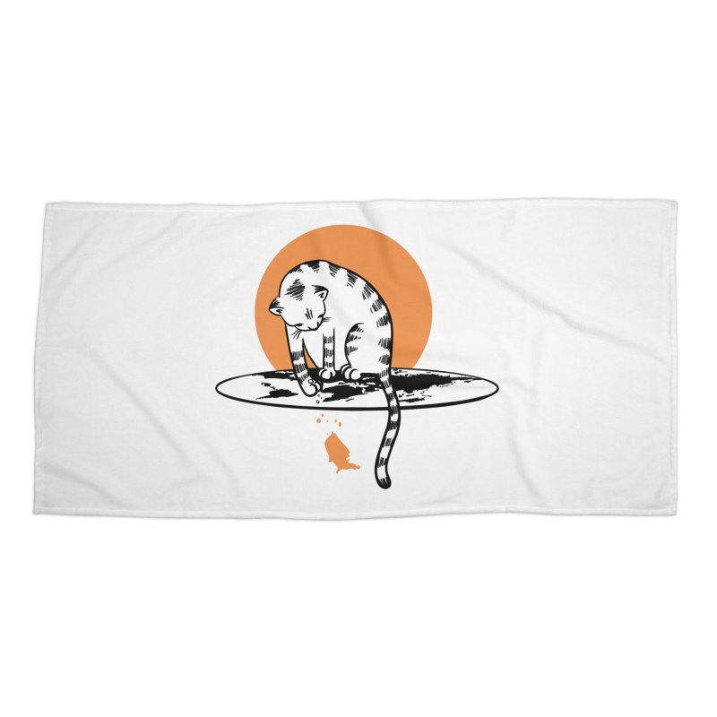 Flat Accessories Beach Towel by blancajp's Artist Shop