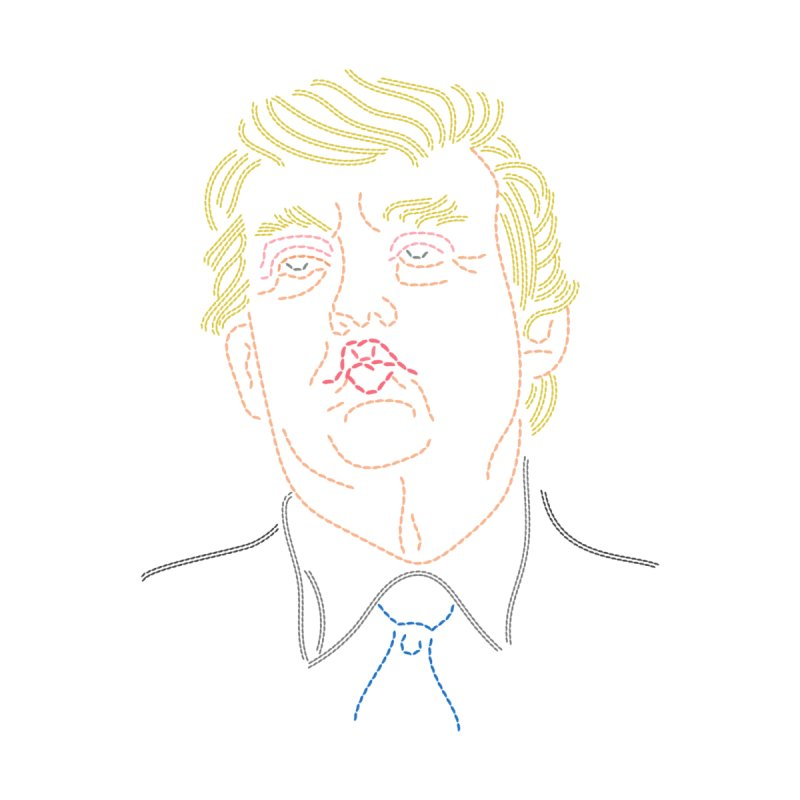 Trump Unraveled Men's V-Neck by Cliff Blank + DOGMA Portraits