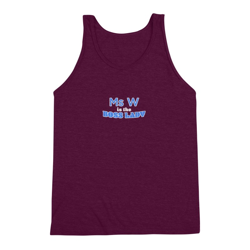 Ms W is the Boss Lady Men's Triblend Tank by Cliff Blank + DOGMA Portraits