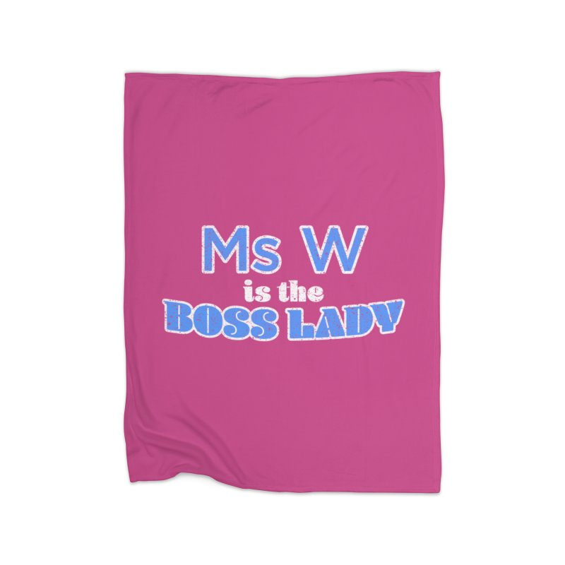 Ms W is the Boss Lady Home Blanket by Cliff Blank + DOGMA Portraits