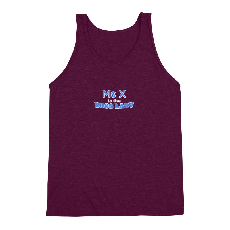 Ms X is the Boss Lady Men's Triblend Tank by Cliff Blank + DOGMA Portraits