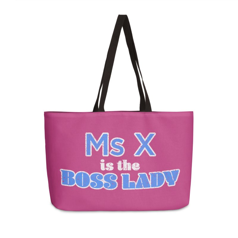 Ms X is the Boss Lady Accessories Weekender Bag Bag by Cliff Blank + DOGMA Portraits