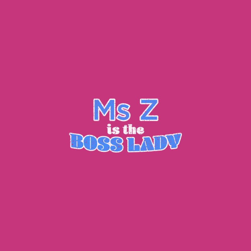 Ms Z is the Boss Lady Accessories Beach Towel by Cliff Blank + DOGMA Portraits