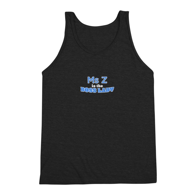 Ms Z is the Boss Lady Men's Triblend Tank by Cliff Blank + DOGMA Portraits