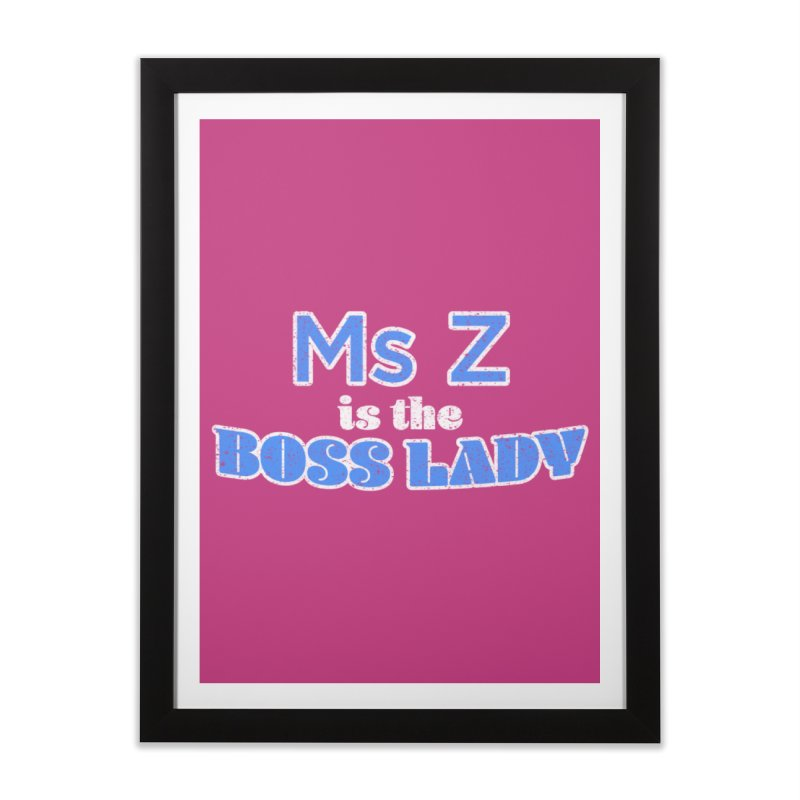 Ms Z is the Boss Lady Home Framed Fine Art Print by Cliff Blank + DOGMA Portraits