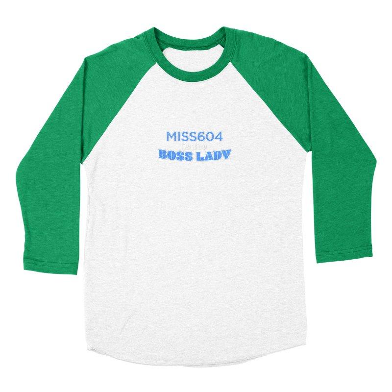 MISS604 is the Boss Lady Women's Baseball Triblend Longsleeve T-Shirt by Cliff Blank + DOGMA Portraits