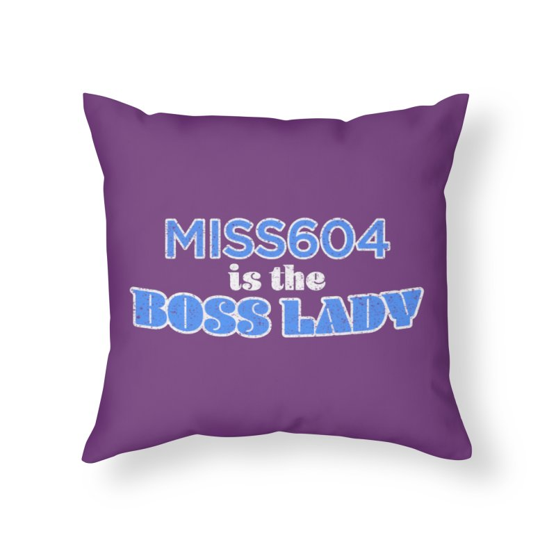 MISS604 is the Boss Lady Home Throw Pillow by Cliff Blank + DOGMA Portraits