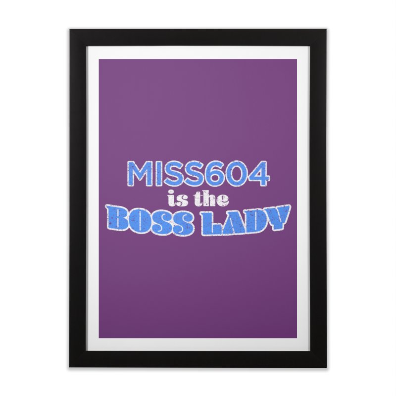 MISS604 is the Boss Lady Home Framed Fine Art Print by Cliff Blank + DOGMA Portraits