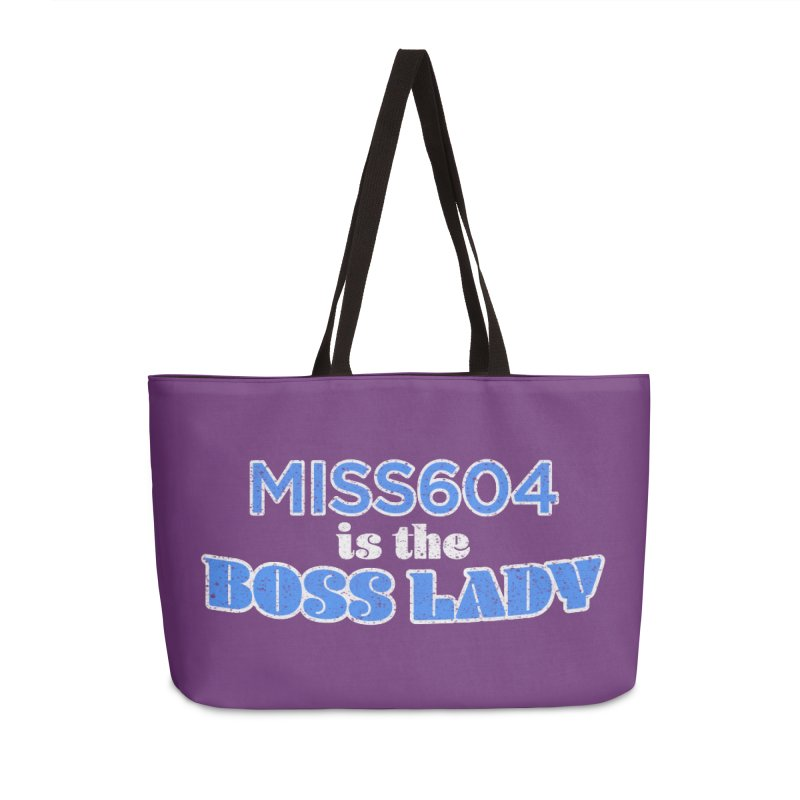 MISS604 is the Boss Lady Accessories Weekender Bag Bag by Cliff Blank + DOGMA Portraits