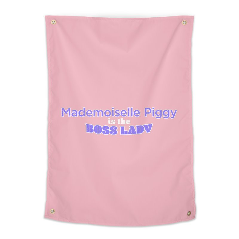 Mademoiselle Piggy is the Boss Lady Home Tapestry by Cliff Blank + DOGMA Portraits