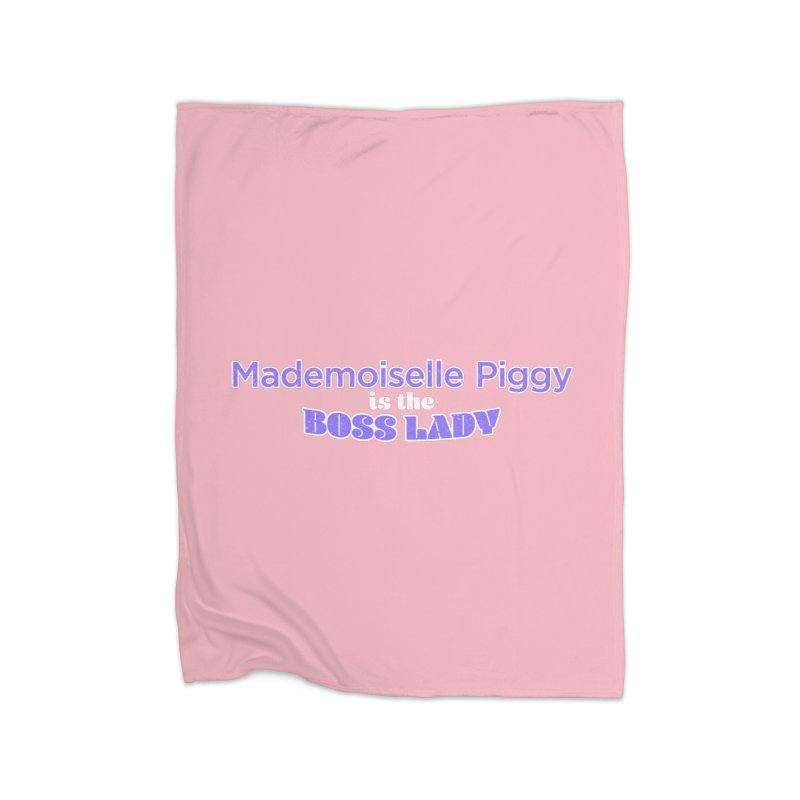 Mademoiselle Piggy is the Boss Lady Home Blanket by Cliff Blank + DOGMA Portraits