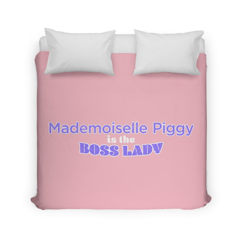 Mademoiselle Piggy is the Boss Lady Home Duvet by Cliff Blank + DOGMA Portraits