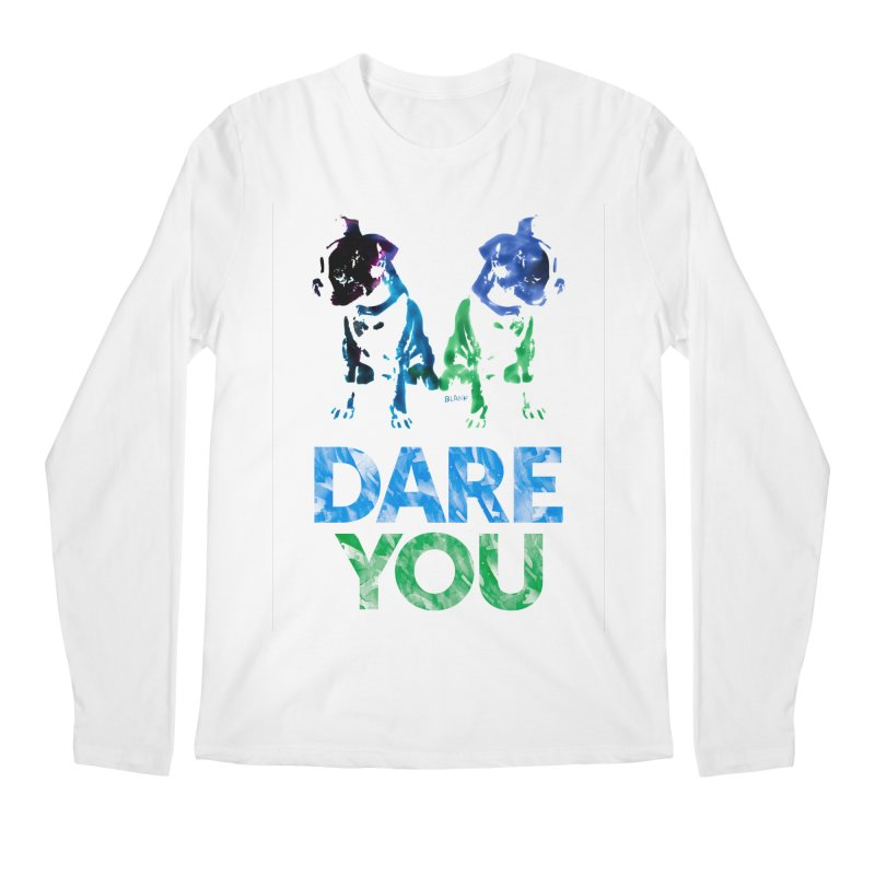 Double Dog Dare You Men's Regular Longsleeve T-Shirt by Cliff Blank + DOGMA Portraits