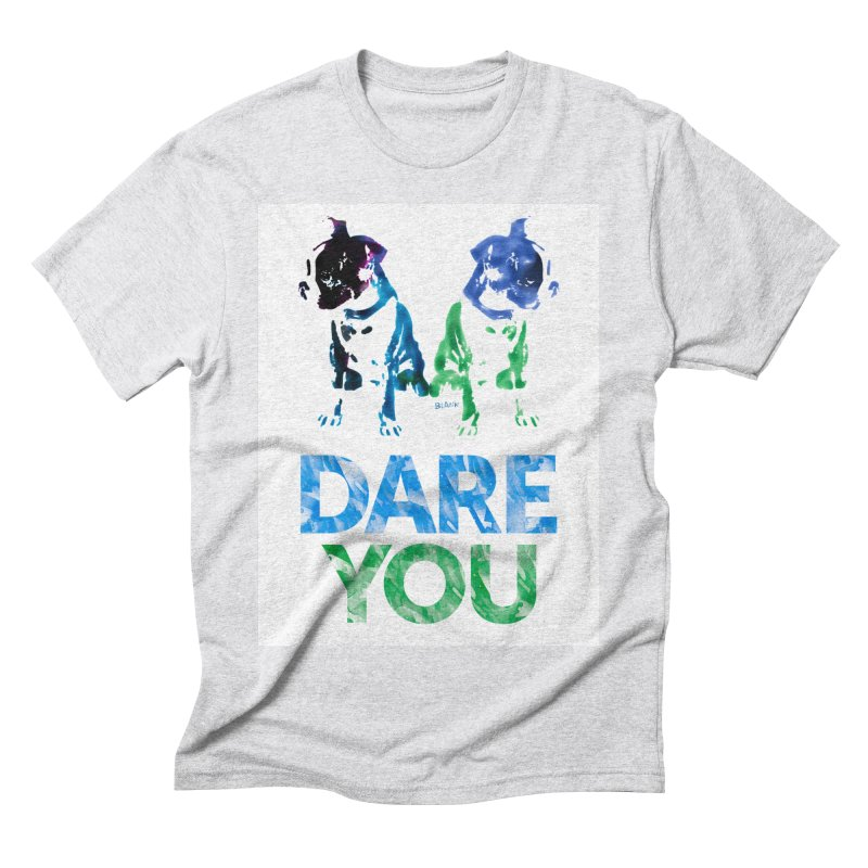 Double Dog Dare You Men's Triblend T-Shirt by Cliff Blank + DOGMA Portraits