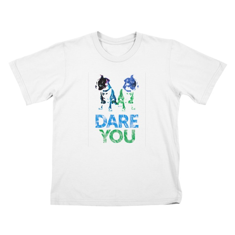 Double Dog Dare You Kids T-Shirt by Cliff Blank + DOGMA Portraits