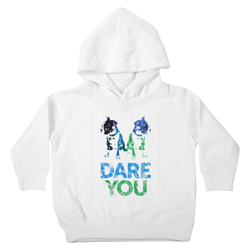 Double Dog Dare You Kids Toddler Pullover Hoody by Cliff Blank + DOGMA Portraits