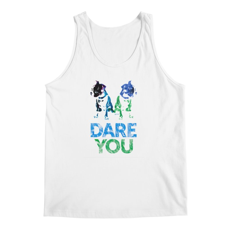 Double Dog Dare You Men's Regular Tank by Cliff Blank + DOGMA Portraits