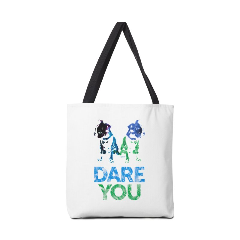 Double Dog Dare You Accessories Bag by Cliff Blank + DOGMA Portraits