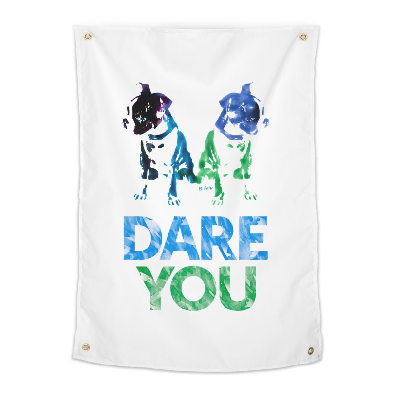 Double Dog Dare You Home Tapestry by Cliff Blank + DOGMA Portraits