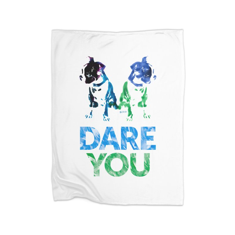 Double Dog Dare You Home Blanket by Cliff Blank + DOGMA Portraits