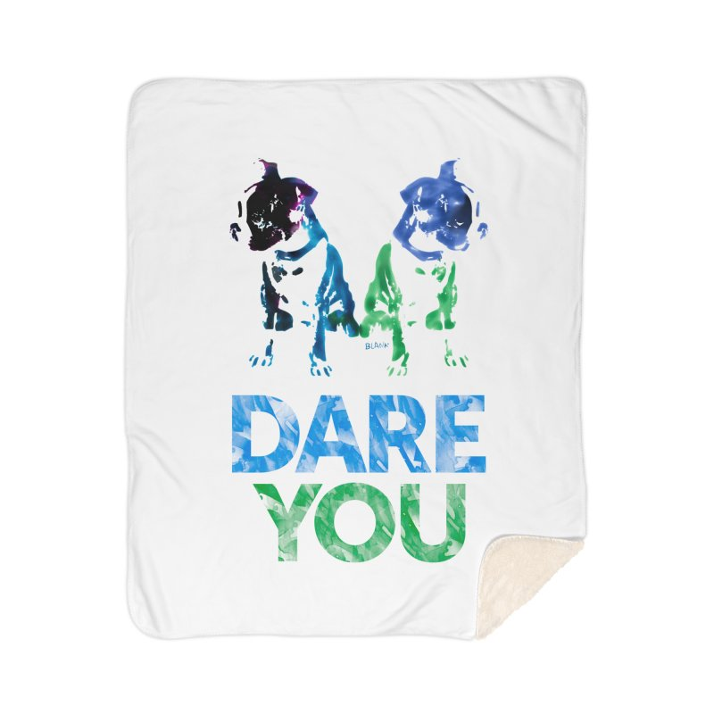 Double Dog Dare You Home Sherpa Blanket Blanket by Cliff Blank + DOGMA Portraits