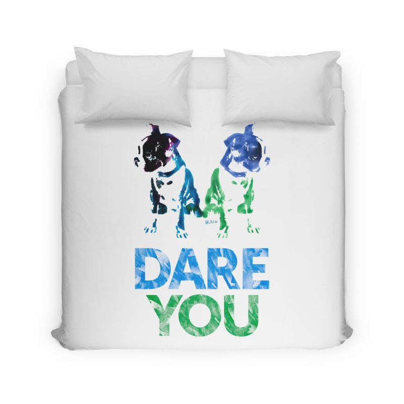 Double Dog Dare You Home Duvet by Cliff Blank + DOGMA Portraits