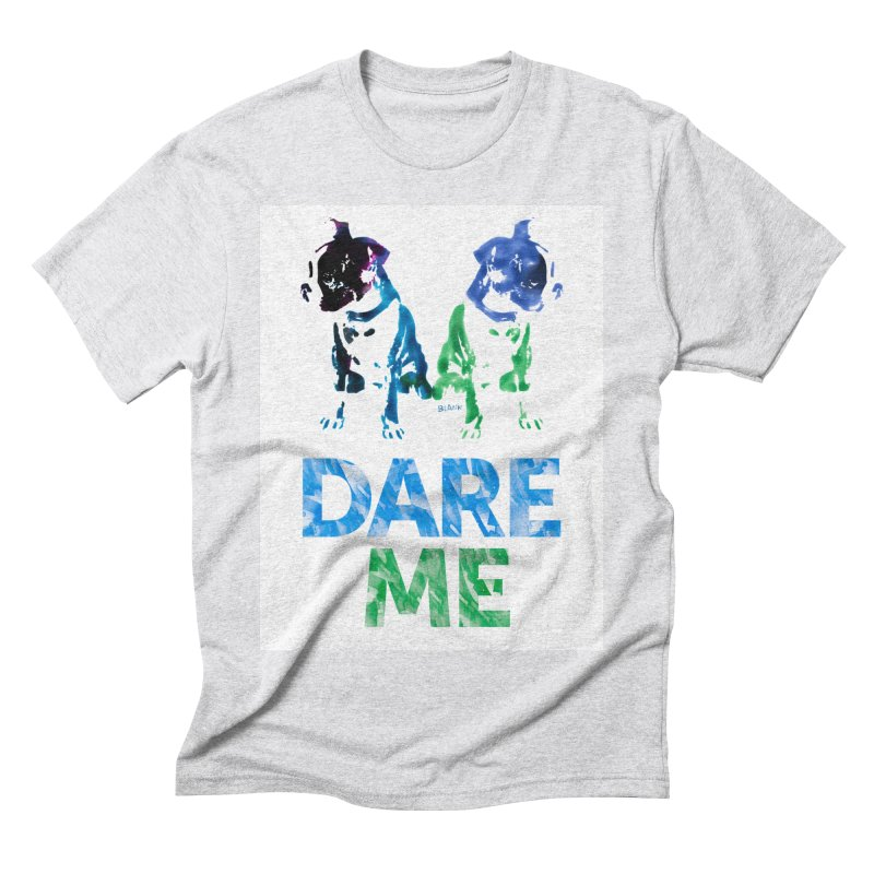 Double Dog Dare Me Men's Triblend T-Shirt by Cliff Blank + DOGMA Portraits