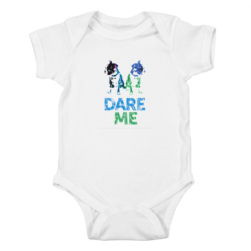 Double Dog Dare Me Kids Baby Bodysuit by Cliff Blank + DOGMA Portraits