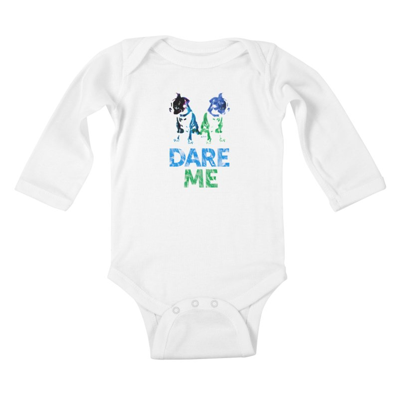 Double Dog Dare Me Kids Baby Longsleeve Bodysuit by Cliff Blank + DOGMA Portraits