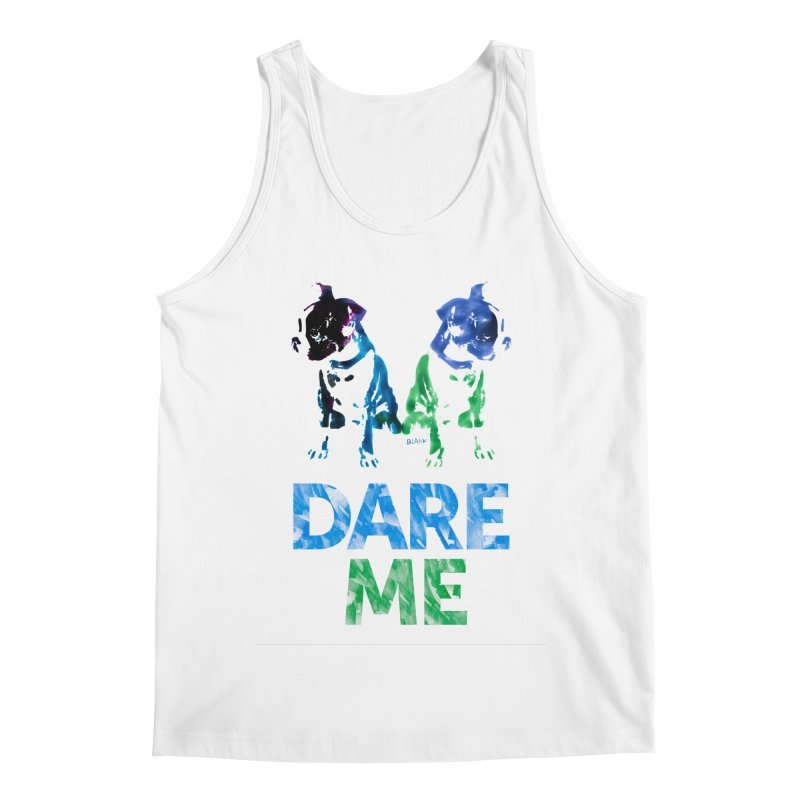 Double Dog Dare Me Men's Regular Tank by Cliff Blank + DOGMA Portraits